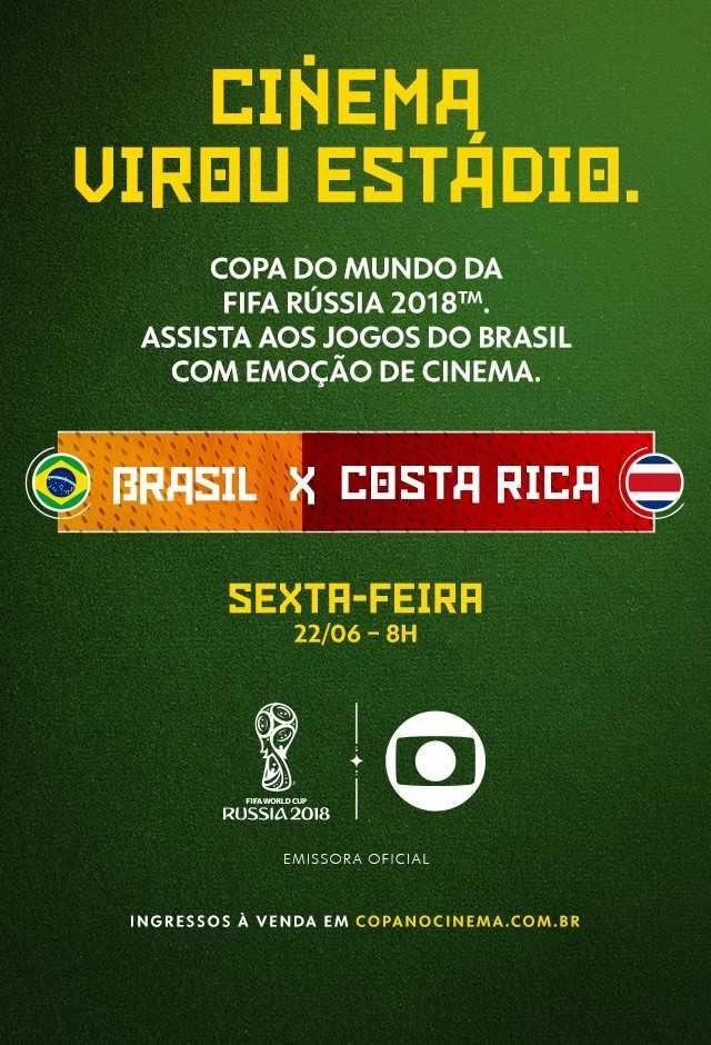Rússia 2018 - Brasil X Costa Rica